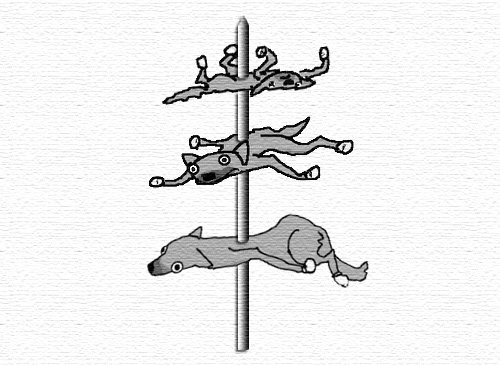 Rat dogs on a stick