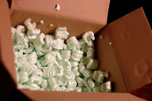 Deadly foam packing peanuts